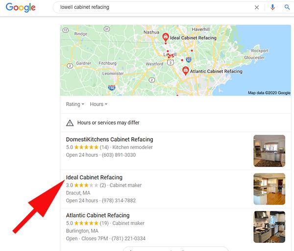 google map serp