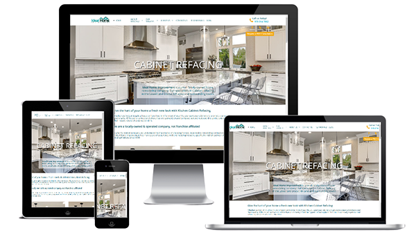 responsive web design for cabinet remodeling company